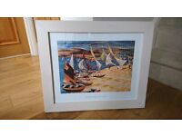 Large framed print of Hayling Island by John R Barker