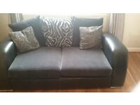 2 X 2 seater sofas and footstool