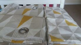 Curtains with matching bedding set