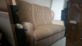 3 seater sofa and matching arm chair, in very good condition. Buyer to collect.