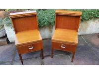 1970's Retro Matching Teak Bedside Cabinets