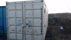 20' High security container with electrics and fixed racking