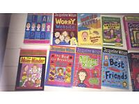 11 Jacqueline Wilson books very good condition great for holidays