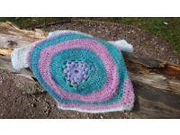 Handmade crochet ,women's pullover ,top ,mohair ,bohemaian style ,multicolour ,