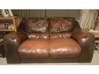 lovely soft leather 2 seater sofa