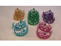 14 New unworn Beautiful ladies or girls crowns assorted colours