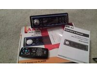 AKAI ACR-4400B CAR RADIO CD PLAYER CHANGER SINGLE DIN HEAD UNIT STEREO BOXED WITH REMOTE