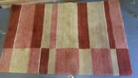 Red & beige striped rug