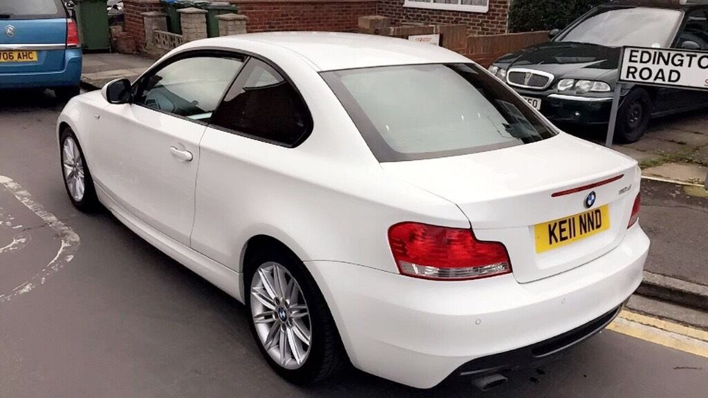 bmw 1 series coupe m sport white 2011 bargain!!   in woolwich