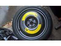 """seat leon fr 18"""" space saver wheel complete with jack 2010 onwards"""