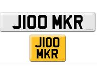 J100 MKR private cherished personalised personal registration plate number