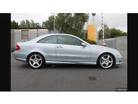 2007 Mercedes clk 220 Cdi sport Amg coupe cream leather mot automatic trade in welcome
