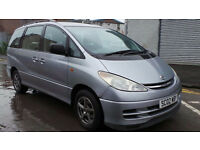 2002 02 TOYOTA PREVIA GLS 2.4 VVTI AUTO MPV MOT 06/18 7 SEATER (CHEAPER PART EX WELCOME)