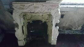 Solid cast iron old reclaimed fireplace victorian