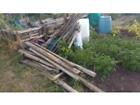 Free scrap wood, various levels of quality and size clearing from allotment