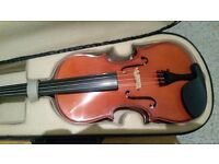 3/4 size violin with a case