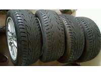 4x195/50 15r alloy wheels +tyres £90