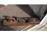vintage capenters block wood plane