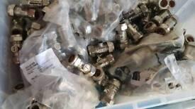 Job lot 10x 15mm iso valves