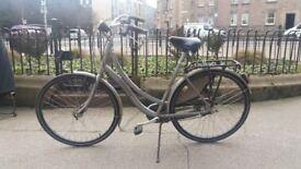 Man silver sturdy Sparta city bike