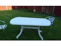 UPVC Garden Table 170cm x 100cm - White (Twickenham area)