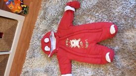 Various baby christmas suits 0-3 mths