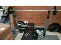 OLYMPIC WEIGHT BENCH WITH WEIGHTS