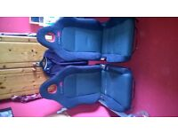 Type R part suede front seats on rails, good condition.