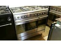 Smeg 90cm dual fuel range cooker fully reconditioned