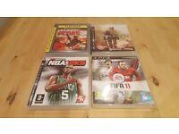 Four PS3 Games - FIFA 11, NBA 2K9, COD Modern Warfare 2 and Rainbow Six Vegas 2