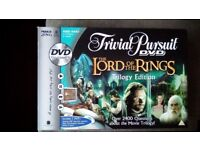 TRIVIAL PURSUIT, THE LORD OF THE RINGS TRILOGY EDITION DVD GAME. NEW.