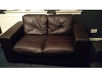 Free 2 and 3 brown leather sofas