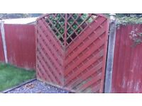 Two pieces of used garden fence