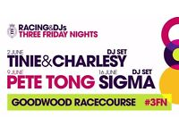 Goodwood Three Friday Nights - Friday 2nd June - Tinie Tempah - £30 each!!