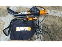 Worx leaf blower and vacuum