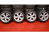 Mazda Genuine 17 alloy wheels + 4 x tyres 205 50 17