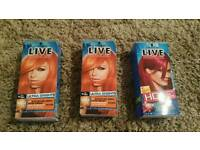 Three live hair dyes
