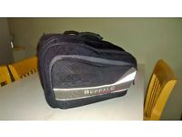 Pair of Buffalo throwover motorbike panniers in excellent condition.