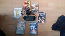 psp handheld 6 movies 3 games