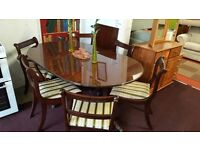 extendible table and 6 chairs ( includes 2 carver chairs )