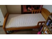 Childs Bed Solid Wood - Baby Weavers Country Toddler Bed -- SOLD