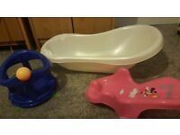 Baby bath and seats