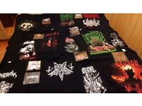 12 Death/Black Metal T-Shirts & 9 Metal CDs