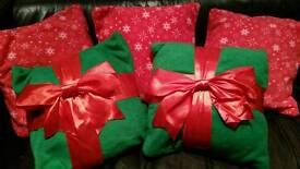 Handmade Christmas cushions