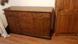 Solid hard wood side board