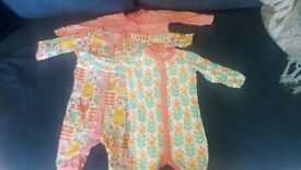Baby Girl Sleepsuit/Onesie/Pyjama Bundle - 6-9/9-12m Ralph Lauren/Ted Baker/Next/John Lewis