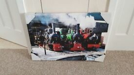 Canvas print of steam trains (Band new)