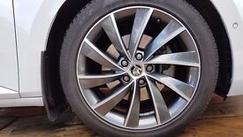 """18"""" Anthracite Pegasus Alloy Wheels from Skoda Superb L&K with tyres"""