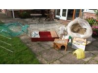 Rabbit/ Guinea pig Indoor hutch, covered play pen, wooden house, plastic igloo house plus much more!