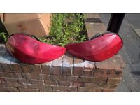 Peugeot 206 CC Convertible Coupe Red Rear Lights (Pair)